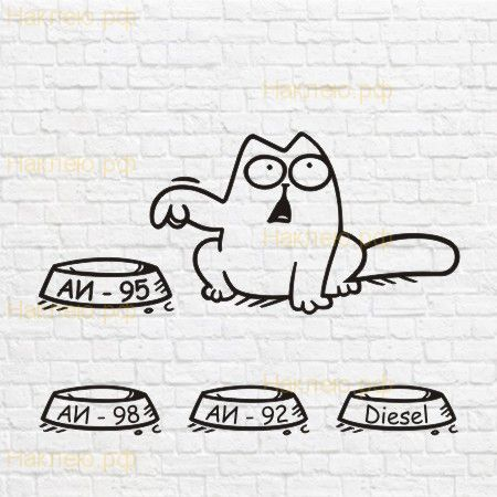 Simon`s cat на бак макет в векторе